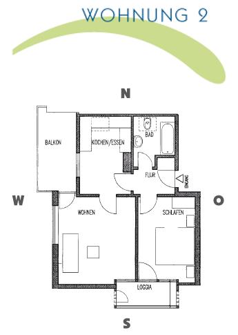 HausDegelstein: Grundriss - WohungNr. 1