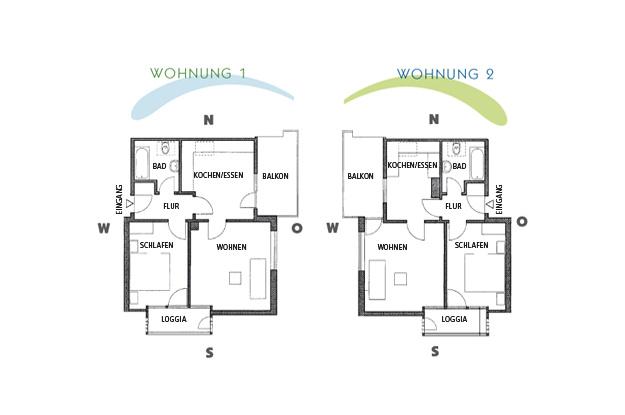 HausDegelstein: Grundrisse - Wohung 1 & 2